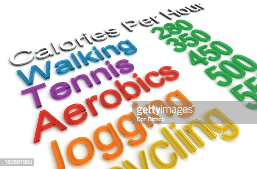 Calorie Exercise Chart : Stock Illustration