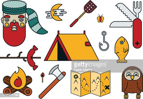 Camping images : Stock Illustration