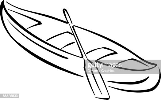 canoe and paddle vector art thinkstock