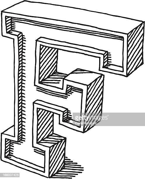 letter f stock illustrations and cartoons