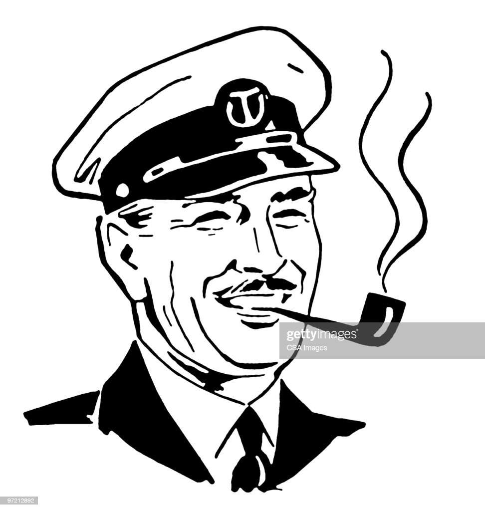 bowtie man smoking pipe stock illustration getty images