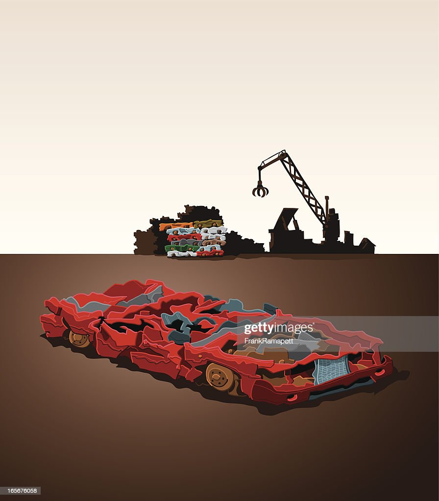 Car Wreck : Vector Art