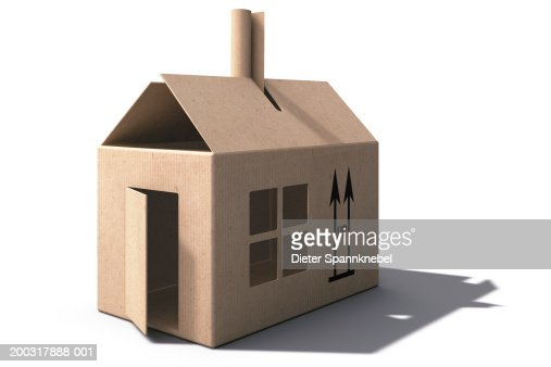 Cardboard Box House Stock Illustration Getty Images