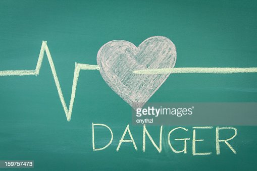 Cardiology Concept on Blackboard : Stock Illustration