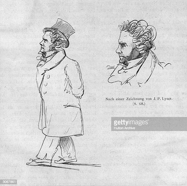 Caricatures of Ludwig van Beethoven by JP Lyser