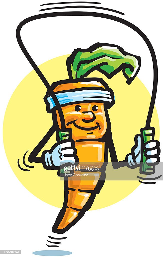 A carrot skipping rope : Stock Illustration