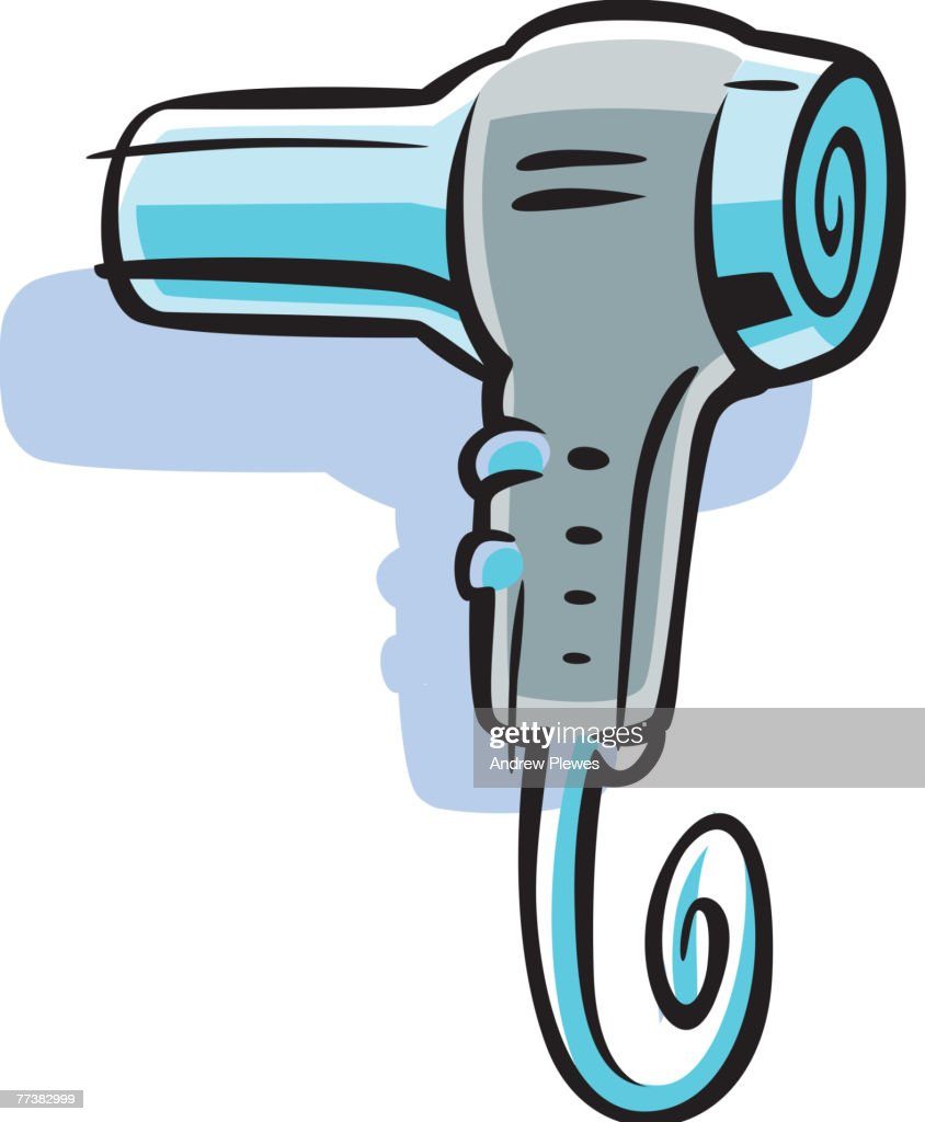 Hair Dryer Drawing ~ Cartoon drawing of a blow dryer vector art getty images
