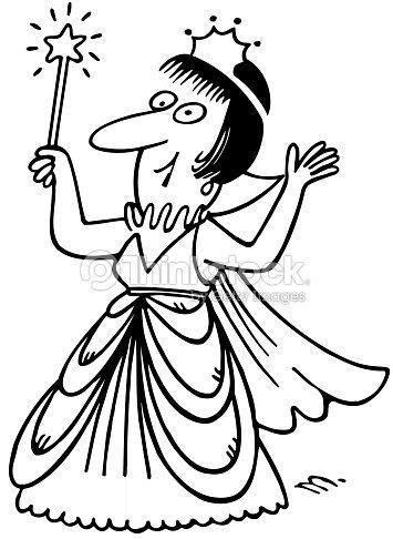 Cartoon Fairy Godmother Stock Illustration Thinkstock
