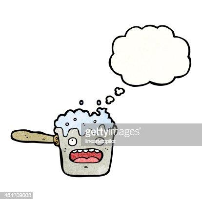 cartoon hot kitchen pan : Stock Illustration