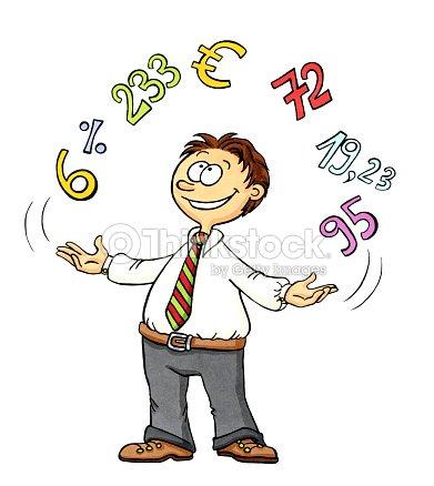 Dessin dun homme jongler avec des chiffres illustration - Dessin avec des chiffres ...