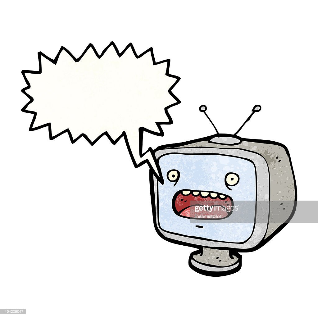 cartoon television set  (raster version) : Stock Illustration
