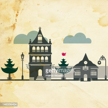Casitas : Stock Illustration