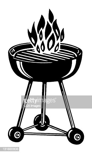 Charcoal grill stock illustration getty images
