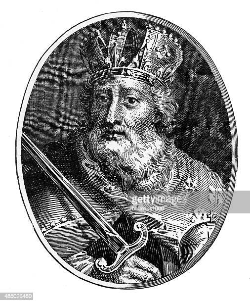 Charlemagne, 742-814 A.D. Engraving