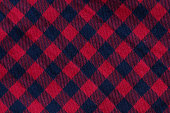 Checkered cloth texture with red and blue stripes, close-up