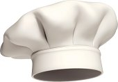 Photo-realistic vector illustration of a modern white chef hat