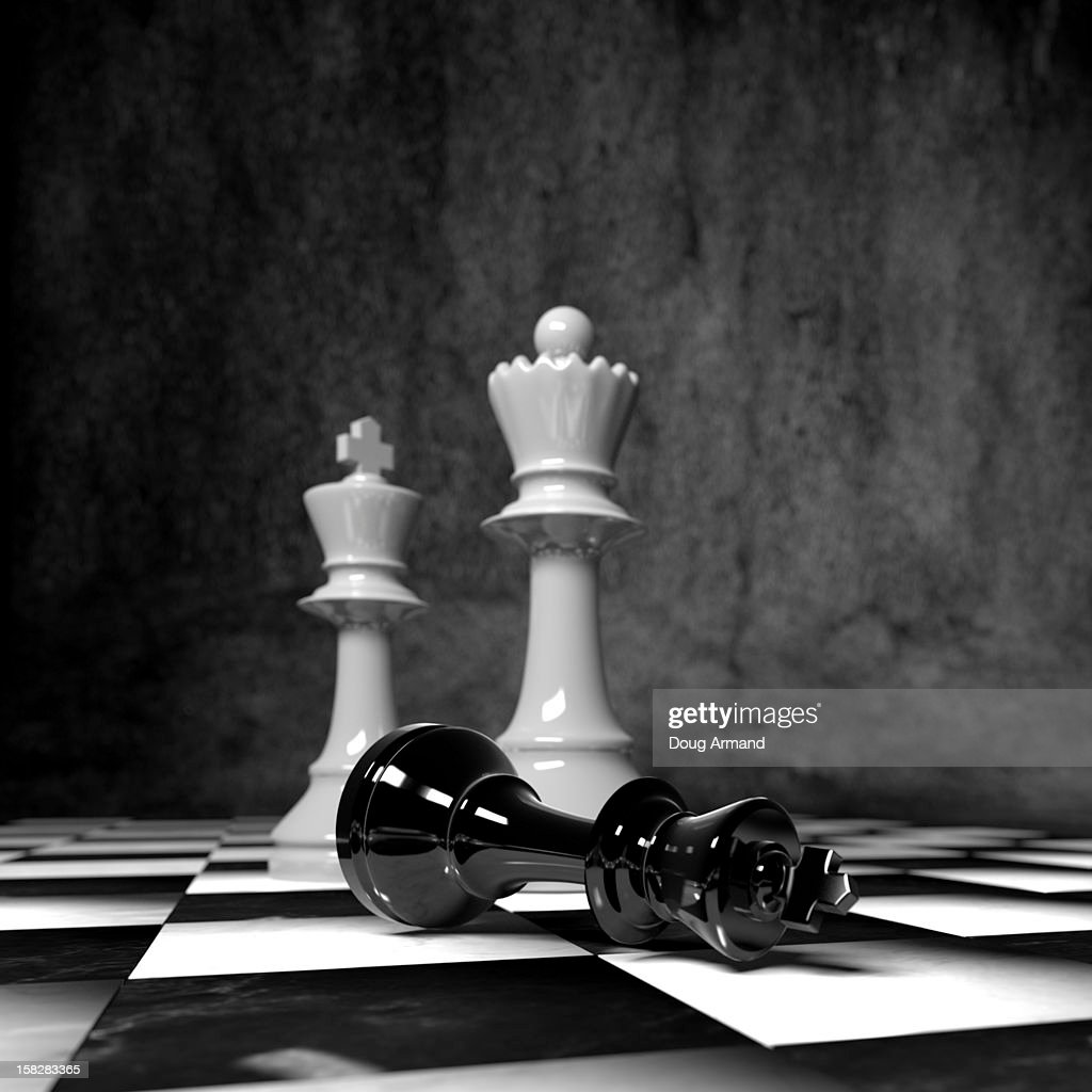 Chess pieces on a board : Ilustración de stock