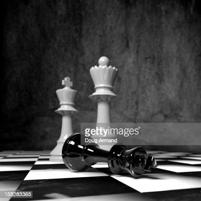 Chess pieces on a board : Stock Illustration