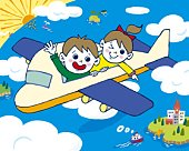 Children on an airplane, Painting, Illustration, Illustrative Technique, High Angle View