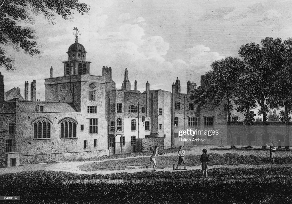 Children playing cricket at Charterhouse private school in Godalming Surrey