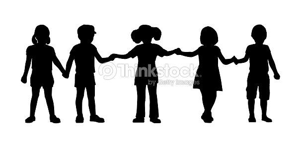 Enfants debout ensemble de 8 mod les illustration thinkstock - Schattenbilder kinder ...