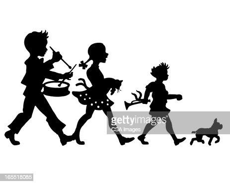 Children's Parade : Stock Illustration