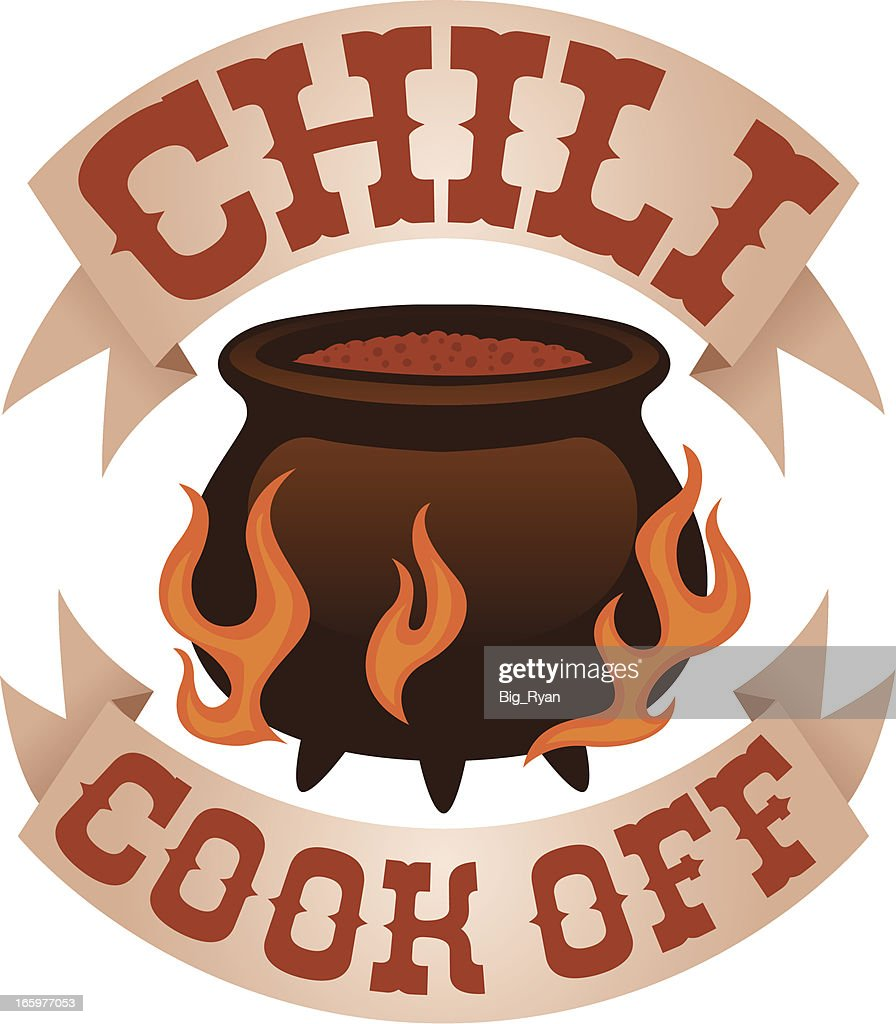 Chili cook off logo vector art getty images for Chili cook off clipart