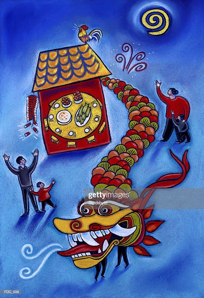 Chinese New Year : Stock Illustration