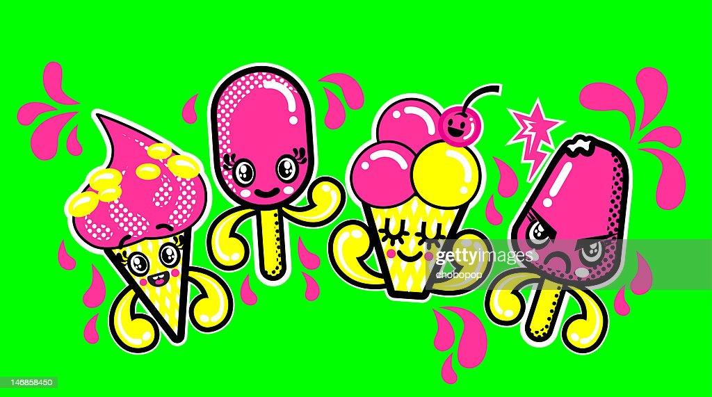 Chobopop icecream : Stock Illustration