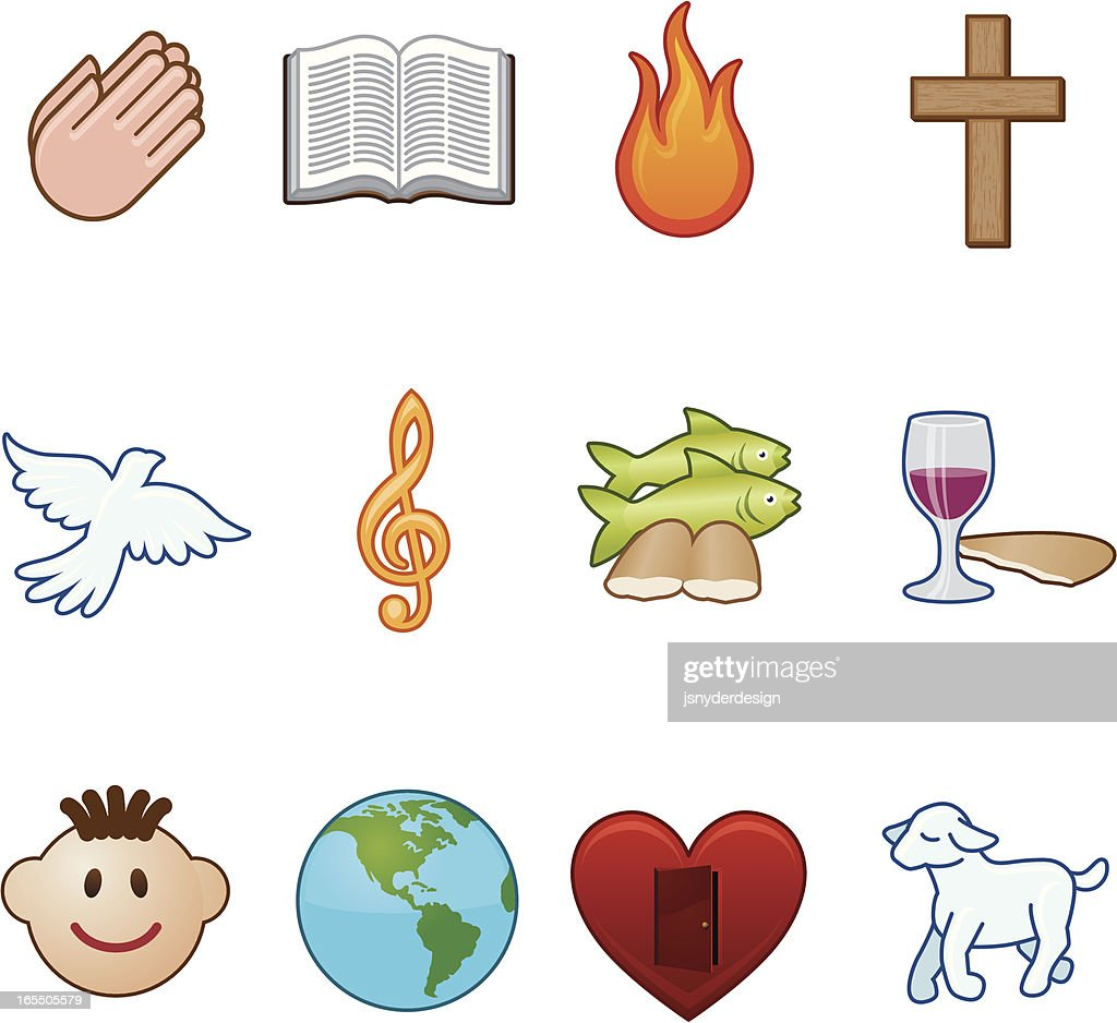 christian symbols Crosses and other symbols of christ, christianity, and the church.