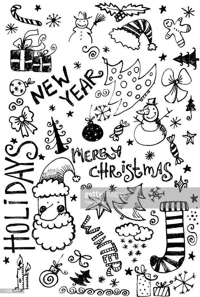 Christmas Doodle : Stock Illustration