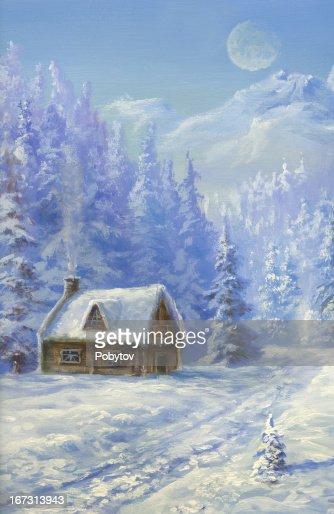 weihnachten in bergen stock illustration getty images. Black Bedroom Furniture Sets. Home Design Ideas