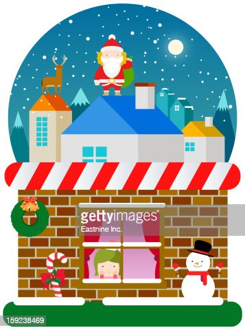 Christmas landscape : Stock Illustration