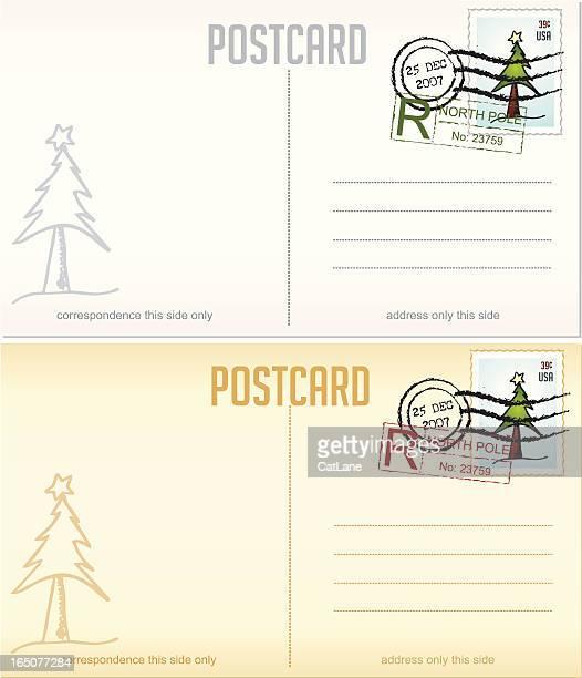 Weihnachts-Design-Elemente-Serie Postkarten