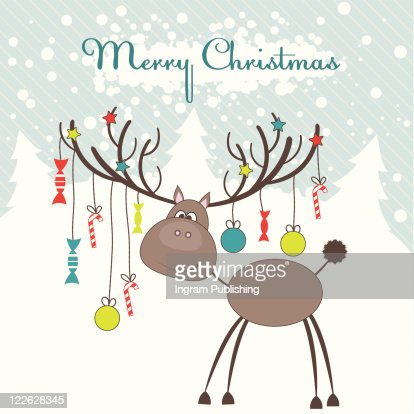 Christmas reindeer with fun gifts. Vector illustration : Arte vectorial