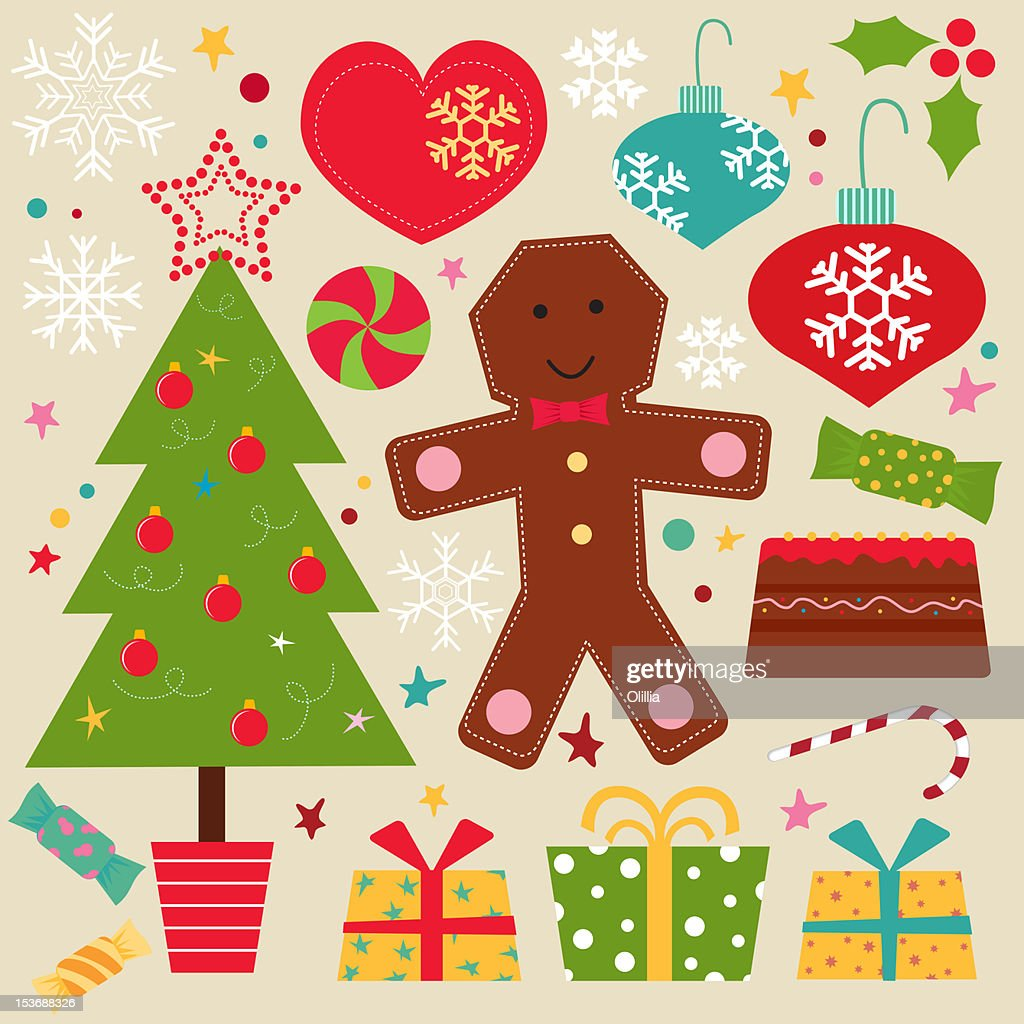 Christmas_set : Stock Illustration