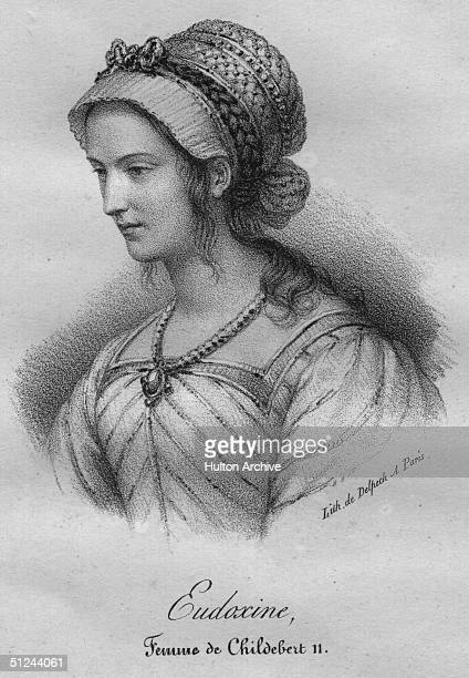 Circa 1000 Eudoxine Queen of France the wife of Childebert II King of France