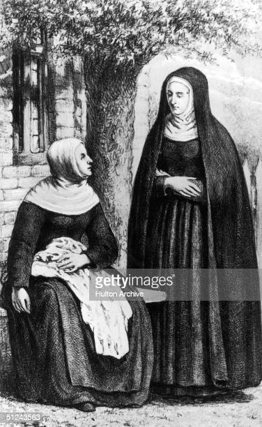 Circa 1135 Hildegard of Bingen German composer abbess mystic and writer noted for her lyrical poetry and devotional songs Intense visions led her to...
