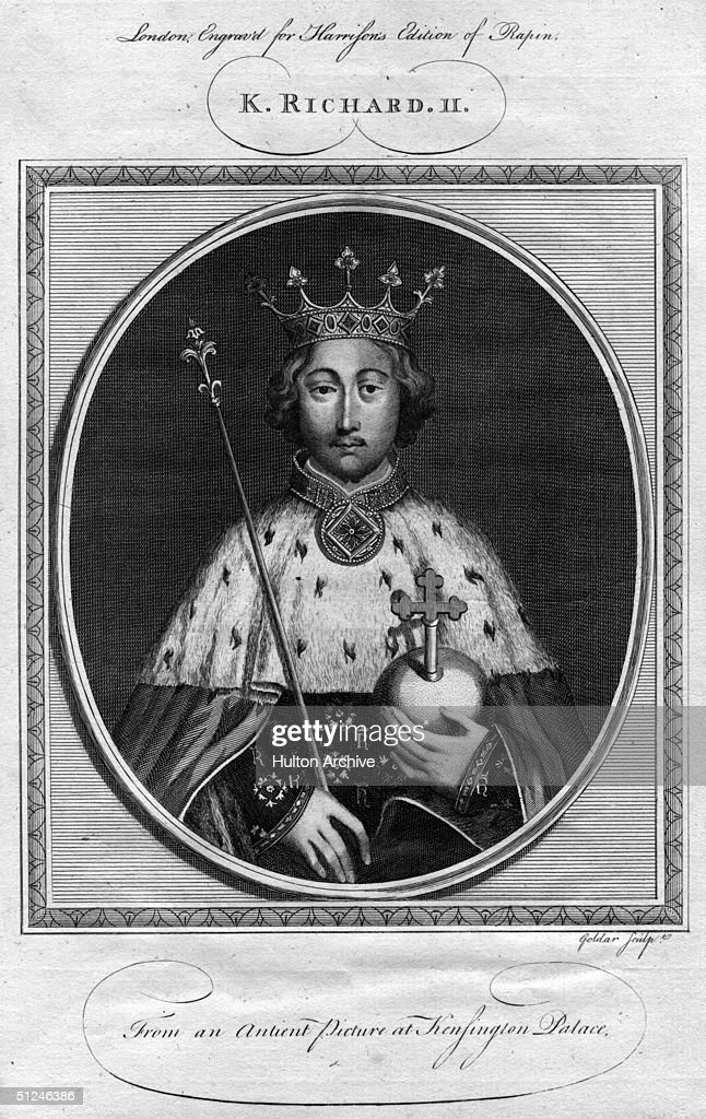 Circa 1390, Richard II (1367 - 1400) who was born in Bordeaux, the third son of Edward The Black Prince and ruler of England from 1377.