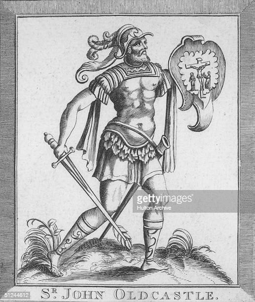 Circa 1410 Sir John Oldcastle Baron of Cobham soldier and martyred leader of the Lollards a late medieval religious sect derived from the teachings...