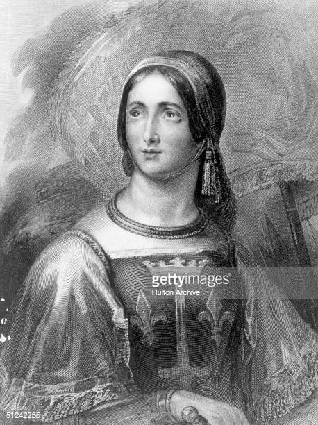 Circa 1430 Saint Joan of Arc called the Maid of Orlans national heroine and patron saint of France who united the nation and decisively turned the...