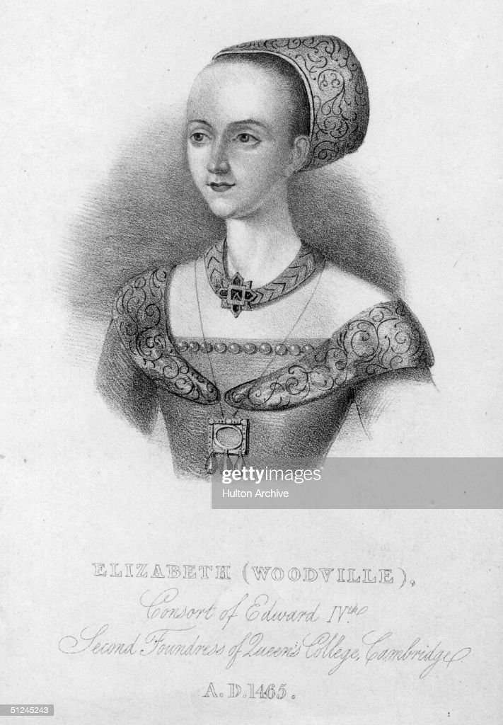Circa 1465, Queen Elizabeth of England, (c1437 - 1492), Elizabeth Woodville, who married King Edward IV in 1464. She was the daughter of the 1st Earl Rivers.