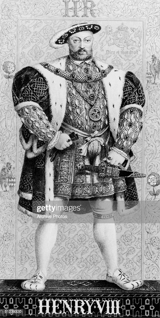 Circa 1520, Henry VIII of England (1491 - 1547). Reign 1509-47, broke with the Papacy over his divorce from Catherine of Aragon 1533, made head of the English church by Parliament, executed three wives and Thomas More (chancellor) 1535, made union of England and Wales 1534-36.