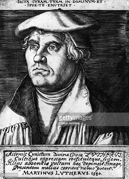 Circa 1540 Martin Luther the German religious reformer and founder of Protestentism