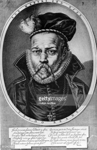 Circa 1600 Tycho or Tyge Brahe the Swedishborn Danish astronomer He lost most of his nose at the age of 19 in a duel and for the rest of his life...