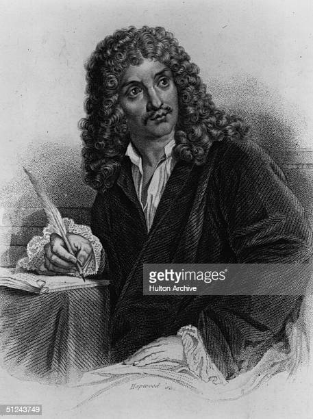 Circa 1650 Jean Baptiste Moliere the French playwright and actor by Hopwood