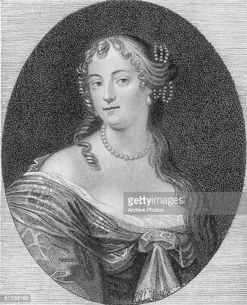Circa 1670 Frances Teresa Stuart Duchess of Richmond and Lennox who was a maid of honor to Catherine of Braganza queen of Charles II of England whose...