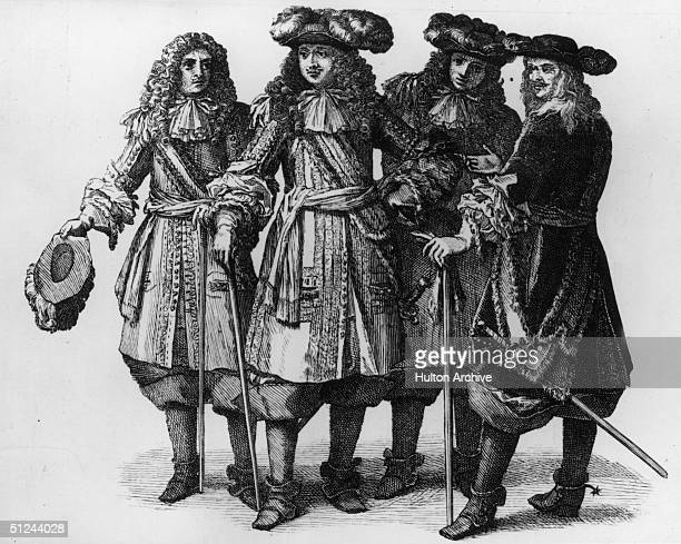 Circa 1670 King Louis XIV of France surrounded by members of his personal staff