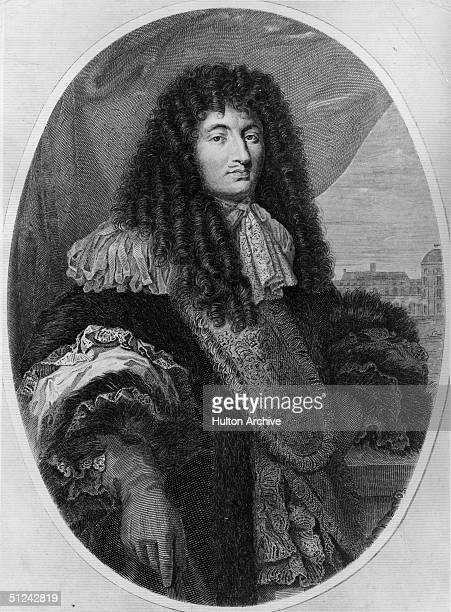 Circa 1680 King Louis XIV of France known as 'the Sun King' Original Artwork Engraving by Gustave Levy from a painting by Philippe de Champagne