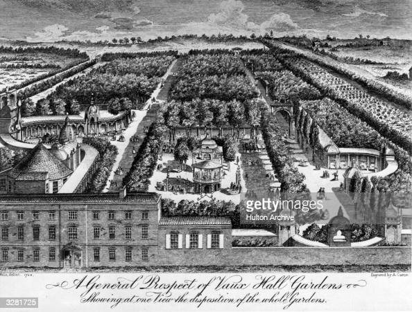 Engraving by A Carse of Vauxhall Gardens London